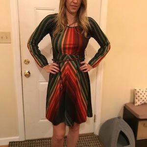 Retro 70s stripe dress